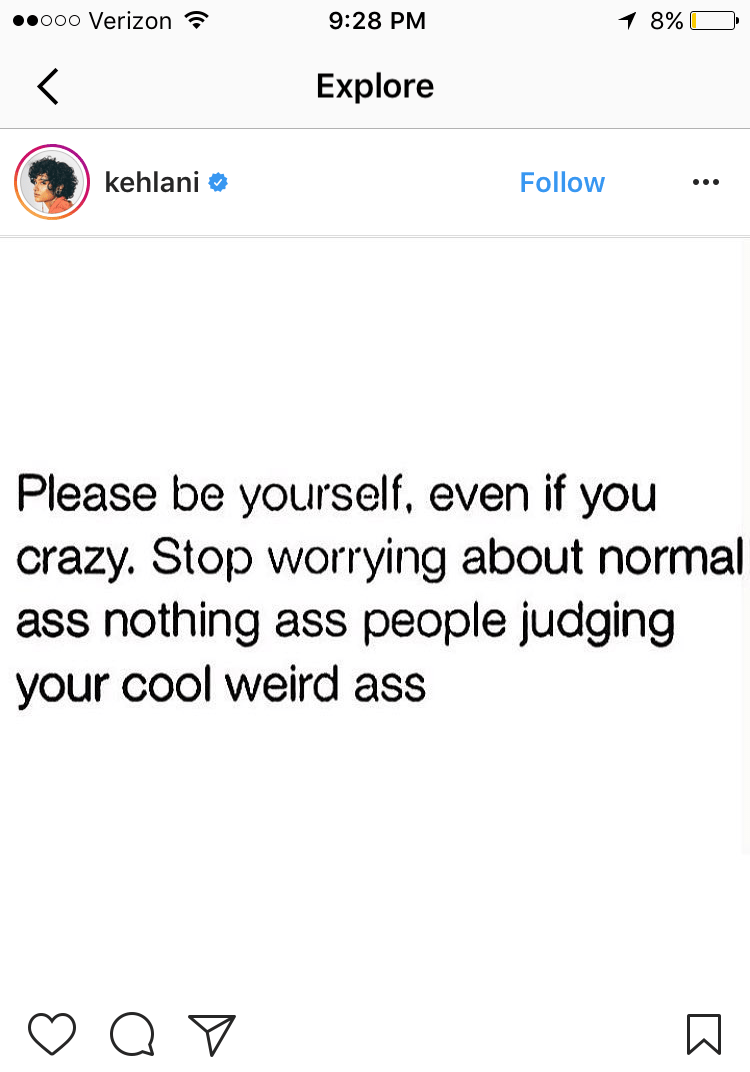 kehlani be yourself